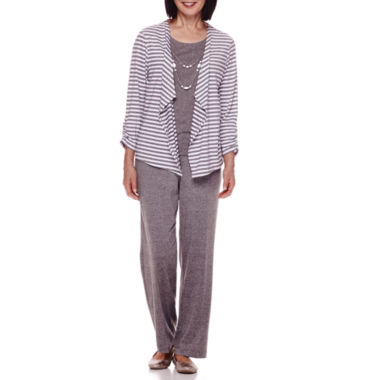 jcpenney.com | Alfred Dunner® Acadia 3/4-Sleeve Stripe Layered Top or Pants