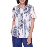 Alfred Dunner® Short-Sleeve Animal-Print Top