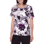 Alfred Dunner® Short-Sleeve Floral-Print Top