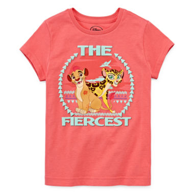 jcpenney.com | Disney Collection Short-Sleeve The Lion Guard Fierce Tee - Girls 7-16