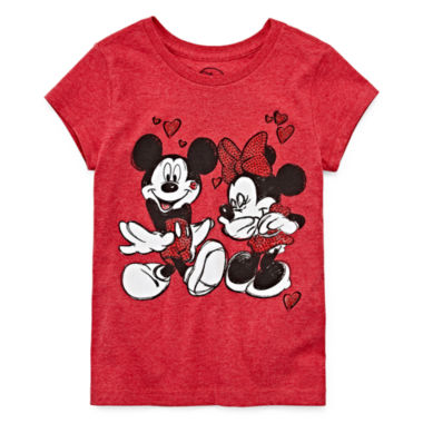 jcpenney.com | Disney Collection Short-Sleeve Mickey and Minnie Love Graphic Tee