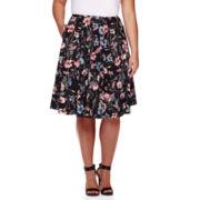 BELLE + SKY™ Floral Skirt - Plus