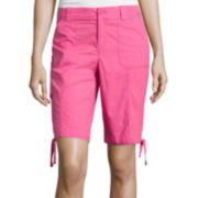 St. John's Bay® Secretly Slender Cargo Bermuda Shorts