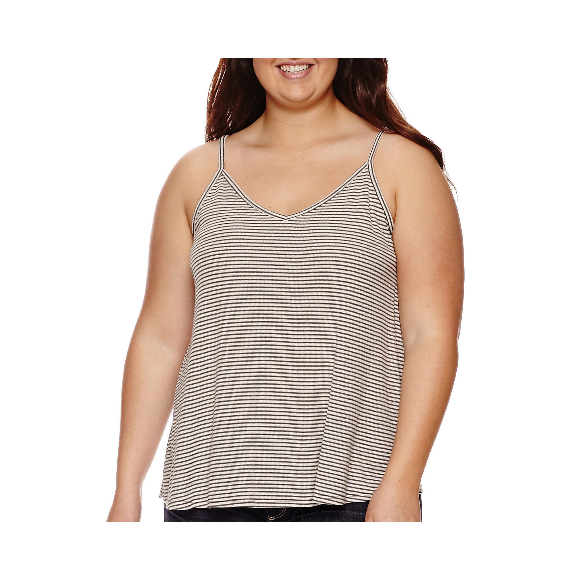 Arizona Swing Ribbed Tank Top - Juniors Plus plus size,  plus size fashion plus size appare