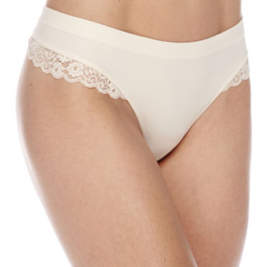 jcpenney.com | Ambrielle® Seamless Lace Thong Panties