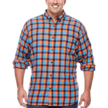 jcpenney.com | The Foundry Big & Tall Supply Co.™ Long-Sleeve Flannel Shirt