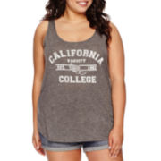 Arizona Easy Racerback Tank Top - Juniors Plus
