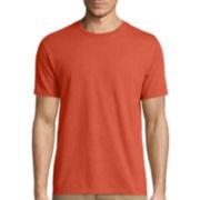 St. John's Bay® Short-Sleeve Slim-Fit Heather Tee