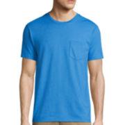 St. John's Bay® Short-Sleeve Slim-Fit Pocket Tee
