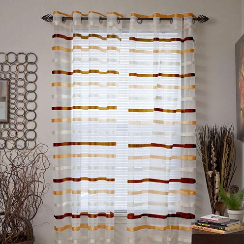 Cambridge Home Arla Grommet-Top Curtain Panel