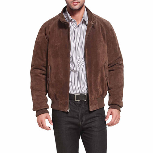 Wwii Suede Leather Suede Bomber Jacket Tall