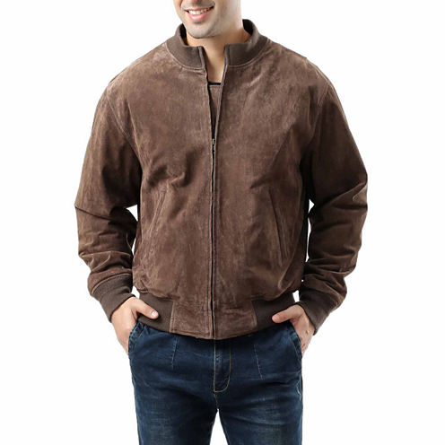 Tanker Style Suede Bomber Jacket Tall