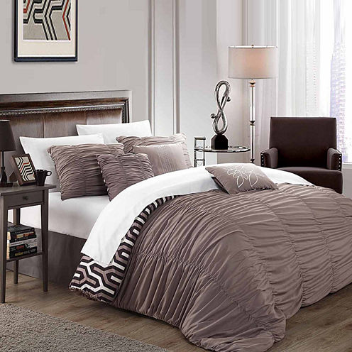 Chic Home Lessie 11-pc. Midweight Reversible Comforter Set