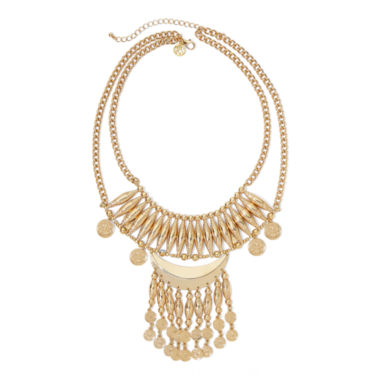 jcpenney.com | Gemma Simone™ Odalis Molten Gold-Tone Statement Necklace