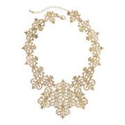 Gemma Simone™ Crest Gold-Tone Filigree Necklace