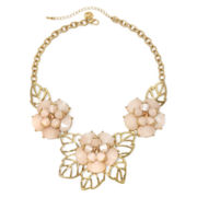 Gemma Simone™ Bloom Fresh Cut Peach Stone Necklace