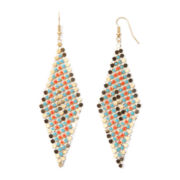 Gemma Simone™ Hatha Sun Salutation Multicolor Mesh Kite Earrings