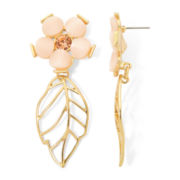 Gemma Simone™ Delphine Fresh Cut Pink Stone Floral Earrings