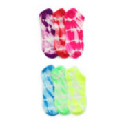 6-pk. Tie-Dyed Low-Cut Socks