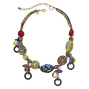 Aris by Treska Amalfi Coast Multicolor Bead Dangle Necklace