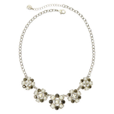 jcpenney.com | Monet® Multicolor Crystal Silver-Tone Frontal Collar Necklace