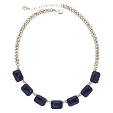 jcpenney.com | Monet® Blue Crystal Silver-Tone Collar Necklace