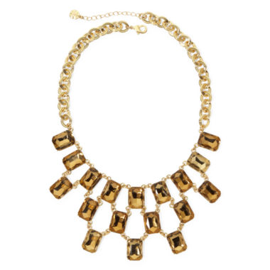 jcpenney.com | Monet® Light Brown Crystal Gold-Tone Statement Necklace