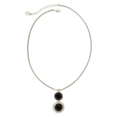 jcpenney.com | Monet® Multicolor Crystal Silver-Tone Pendant Necklace
