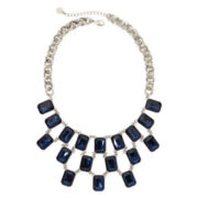 Monet® Blue Crystal Silver-Tone Statement Necklace