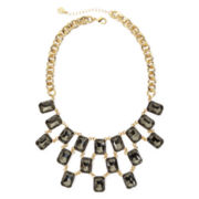 Monet® Gray Crystal Gold-Tone Statement Necklace