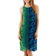 R&K Originals® Sleeveless Chiffon Trapeze Dress