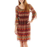 R&K Originals® Bell-Sleeve Peasant Dress