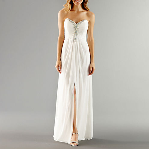 One by eight strapless beaded bodice wedding gown jcpenney for Jcpenney dresses for weddings