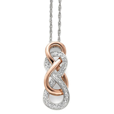 Infinity promise 110 ct tw diamond two tone infinity pendant infinity promise 110 ct tw diamond two tone infinity pendant necklace aloadofball Choice Image