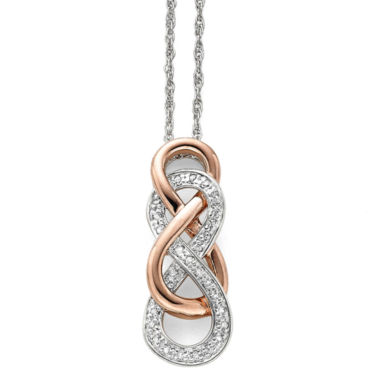 jcpenney.com | Infinity Promise 1/10 CT. T.W. Diamond Two-Tone Infinity Pendant Necklace