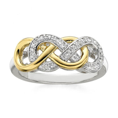 jcpenney.com | Infinity Promise 1/10 CT. T.W. Diamond Two-Tone Infinity Ring