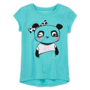 Okie Dokie® High-Low Graphic Tee - Preschool Girls 4-6x