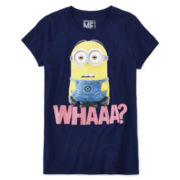 Minions Graphic Glitter Tee - Girls 7-16