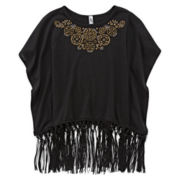 Beautees Fringe Poncho - Girls 7-16