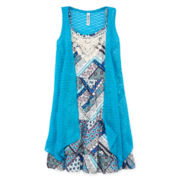 Knit Works Festival Dress and Shrug - Girls 7-16