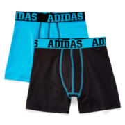 adidas® 2-pk. Sport Performance Boxer Briefs - Boys 6-20