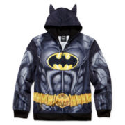Batman Fleece Costume Hoodie - Boys 8-20