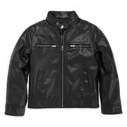 Arizona Faux-Leather Moto Jacket - Preschool Boys 4-7