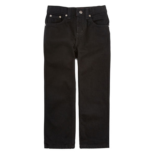 Arizona Relaxed-Fit Black Jeans - Preschool Boys 4-7, Husky