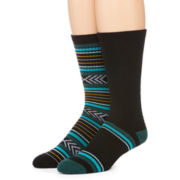 Reckless® Mens 2-pk. Tribal Crew Socks