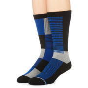 Reckless® Mens 2-pk. Colorblock Crew Socks