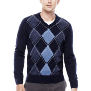 Dockers® V-Neck Argyle Pullover Sweater