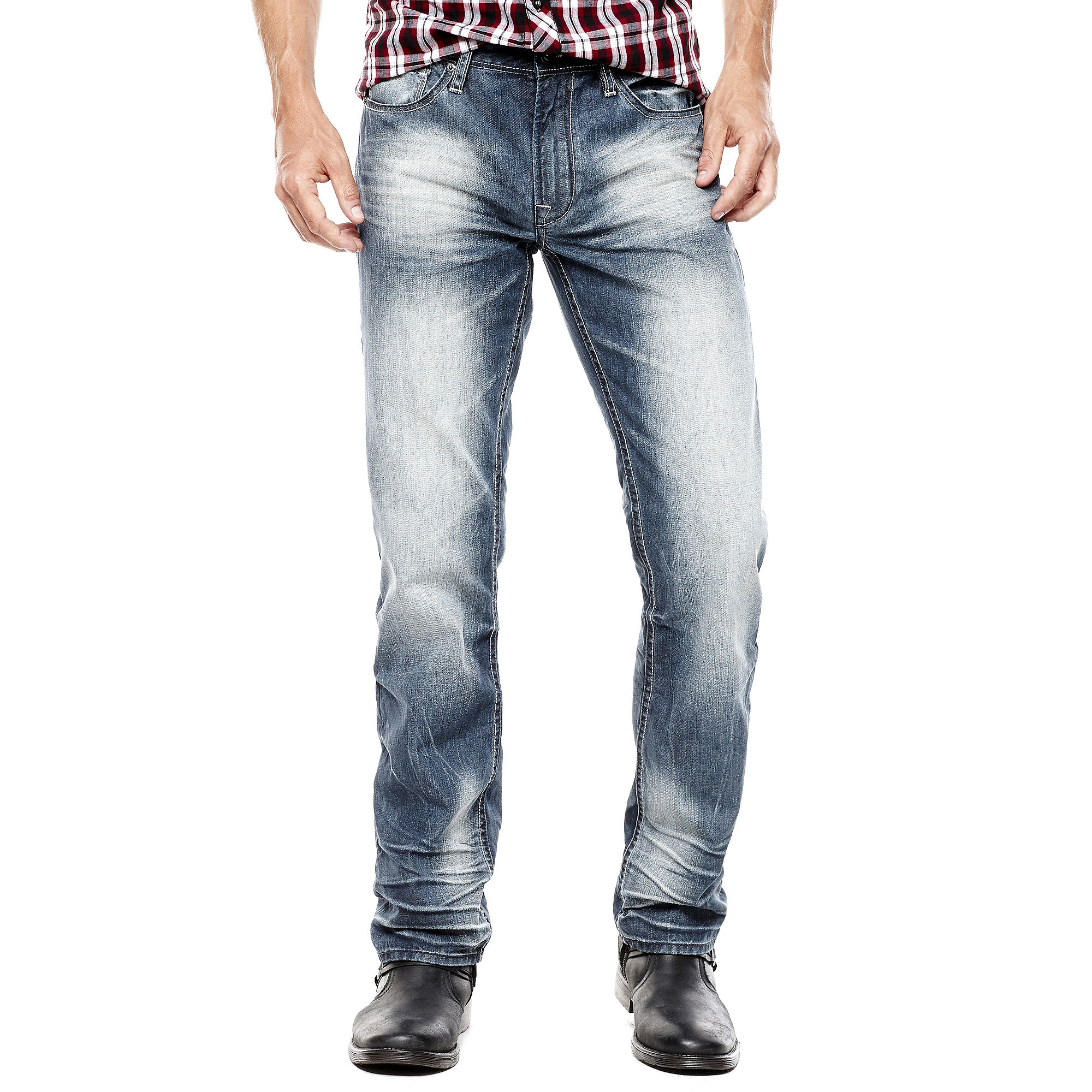 i jeans by Buffalo Spencer Slim-Fit Faded-Wash Jeans