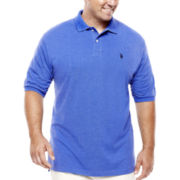 U.S. Polo Assn.® Short-Sleeve Heather Polo - Big & Tall