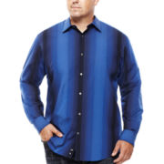 Claiborne® Long-Sleeve Ombre Woven Shirt - Big & Tall